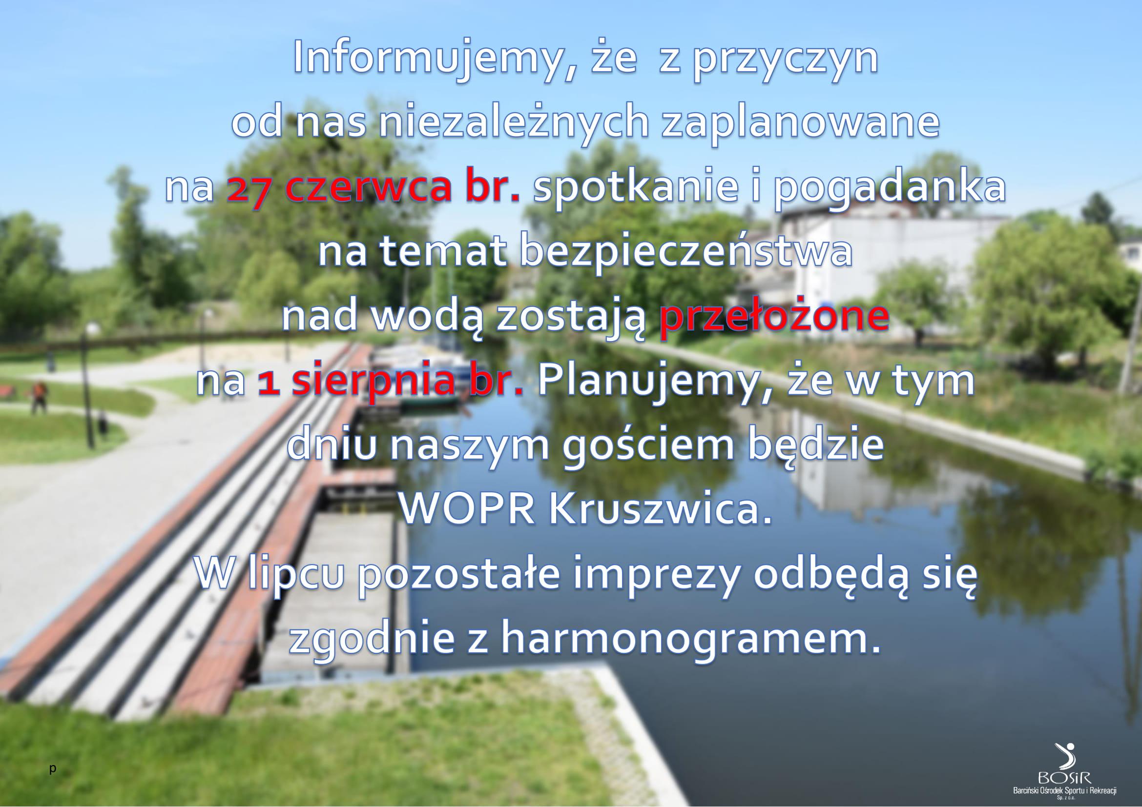 You are currently viewing Bosir uczy ratować życie – Zmiana terminu!